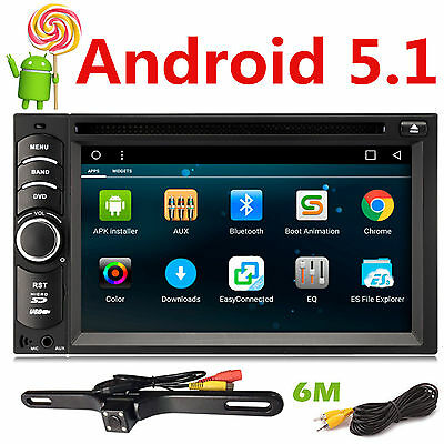 """CAM+Octa Core 6.2"""" Touch Panel Android 5.1 Car Radio Stereo DVD Player GPS OBD2"""