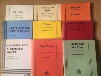 Samuel French and Dramatists Play Service Play Scripts Lot Of 9 Simon Shaw Slade