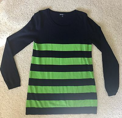 Gap Maternity Navy and Green Lightweight Sweater Size Large L C1