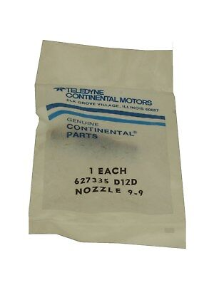 New Tcm Continental Fuel Injector P/n 627335D-12D Nozzle 9-9, Sealed Io-470/520