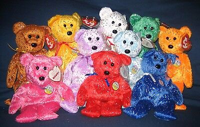 TY DECADE BEANIE BABY - COMPLETE SET of 10  - ALL MINT with MINT TAGS
