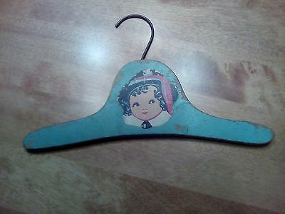 Vintage Child's Wooden Hanger 1 Blue Shabby Chic