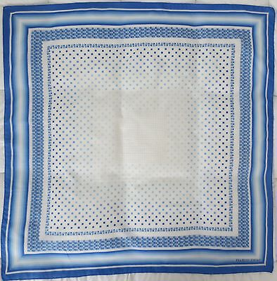 Francois Jordan blue and white filmy vintage scarf