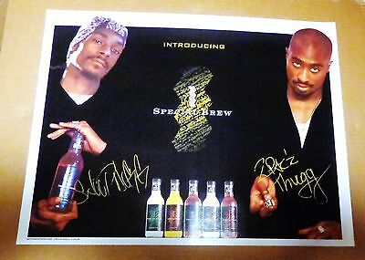 Tupac and Snoop Dog - St. Ides - Special Brew - Poster @ 1996 - VERY RARE-NEW