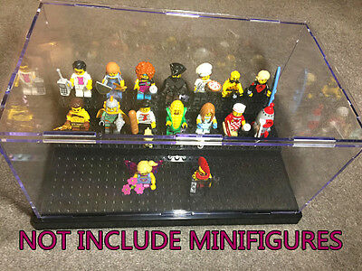 New 3 LEVELS ACRYLIC DISPLAY CASE BOX FOR LEGO MINIFIGURES BLACK