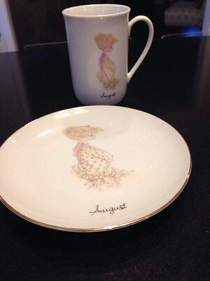 Precious Moments August Mug And Plate