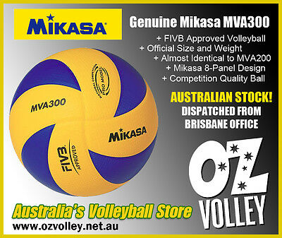 Genuine Mikasa MVA300 Indoor Competition Volleyball - FIVB Approved - OzVolley