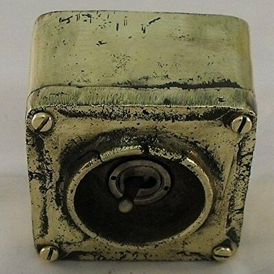 NEW Solid Brass Vintage Industrial 1 Gang Light Switch - BS EN Approved