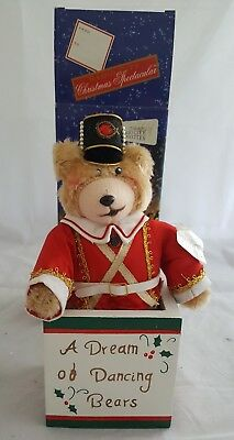 new Radio city Rockettes collectible plush bear in box Christmas Musical Bear