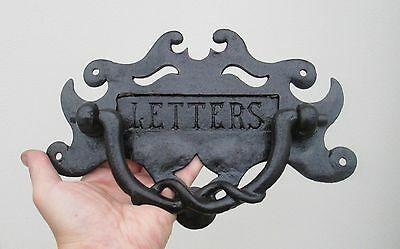 Antique Reclaimed English Cast Iron Arts & Crafts Letterbox Door Knocker