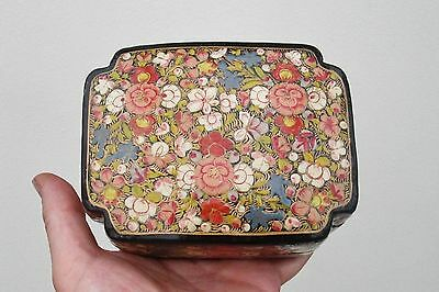 Wooden Box - Bloomsbury Group / William Morris Inspired - Hand Painted Flowers