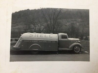 "Vintage '40s or '50s Shell Gasoline Chevrolet Truck 8"" x 10"" Photo - FREE S&H!"