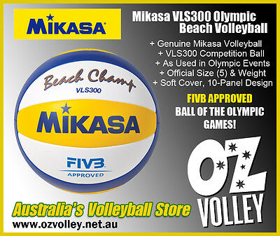 Genuine Mikasa VLS300 Beach Champ Volleyball - FIVB Approved - OzVolley