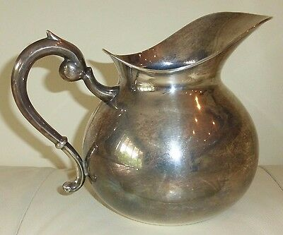 Sterling Silver 925 Peruvian Pitcher 330 Grams And Holds 52 Oz Of Liquid