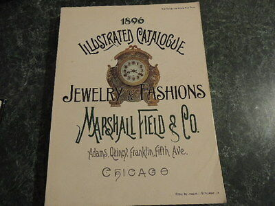 1896 Marshall Fields Illustrated Jewelry and Fashion Catalogue, 340+ pages, VG