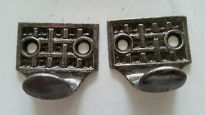 Pair Vintage Antique Victorian Cast Iron Sash Lift Window Lift (#502)
