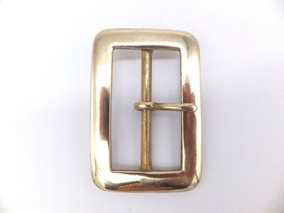 "CAST LIGHTWEIGHT [  2""   50 mm ] SOLID BRASS BELT BUCKLE Leathercraft"