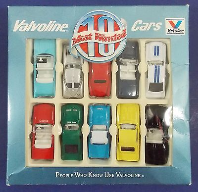 "Vintage Box Die Cast ""Valvoline Ten Most Wanted Cars"" Never Played With"