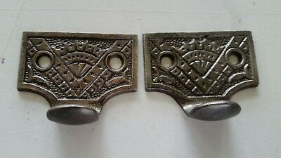 Pair Vintage Antique Victorian Cast Iron Sash Lift Window Lift (#514)