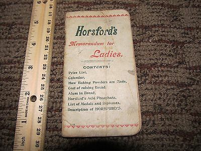1890s Advertising Horsford's Self Rising Bread Brochure Notebook
