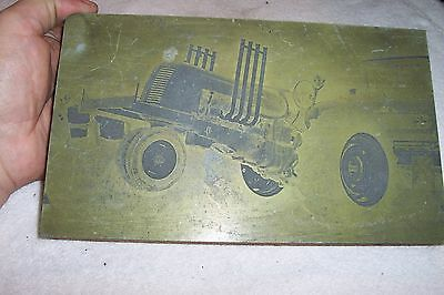 Printers Etched Plate of Tractor Puller Oliver Tractor Cockshutt MAKE OFFER