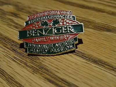 Benziger Family Winery Lapel  Pin Vinyard NIP