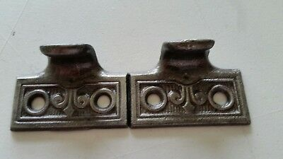 Pair Big Old Vintage Antique Victorian Cast Iron Sash Lift Window Lift (#521)