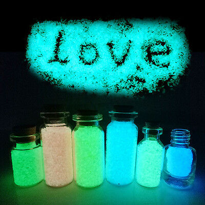 10g Glow Gravel Luminous Romantic Sand Fish Tank Aquarium Fluorescent Particle