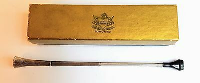 Flapper Era Sterling Silver Ladies Cigarette Holder Ladies Mouth Pipe. Retracts