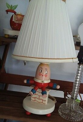 Vintage~Wooden~Humpty Dumpty Nursery Child's Lamp