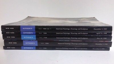 Lot Of 5 Sotheby's American Paintings Drawings Sculptures Auction Catalogs