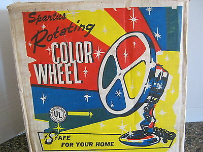 Spartus 4 Color  1960's Rotating Color Wheel W/ 2 Bulbs