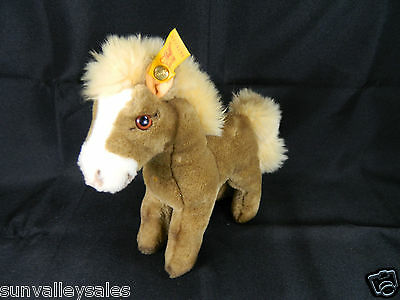 Vintage Steiff Cosy Ferdy Horse Brown 5475/20  West Germany Very Nice Condition