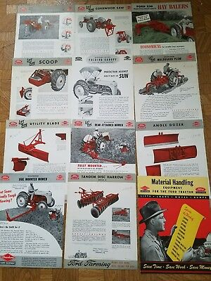 Original Ford Tractor Dearborn Equipment Brochures For Ford 8n