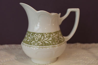J G Meakin Royal Stafforshire Green Sherwood Ironstone Milk Pitcher