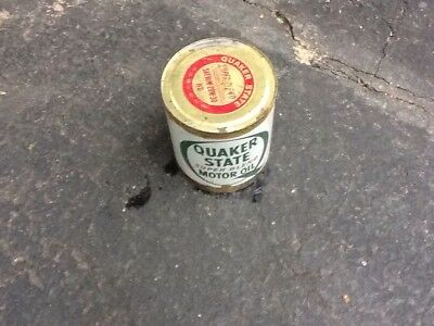 Quaker State Vintage Gallon Oil Can Probably 1950S