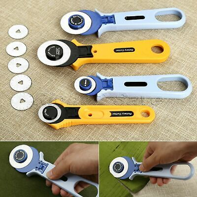 Manual Cloth Cutting Knife Roller Wheel Round Cutter Quilting Patchwork Sewing