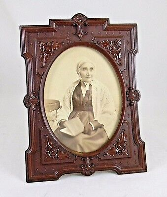 "Nice Mid 19th Century Gutta Percha Picture Frame, 8.25"" X 6"""