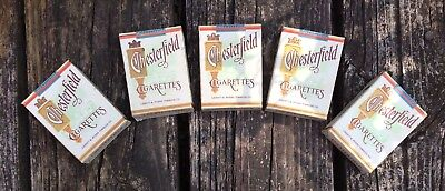X5 Vintage Chesterfield CIGARETTES Unopened PACKs Display Dummy Boxes