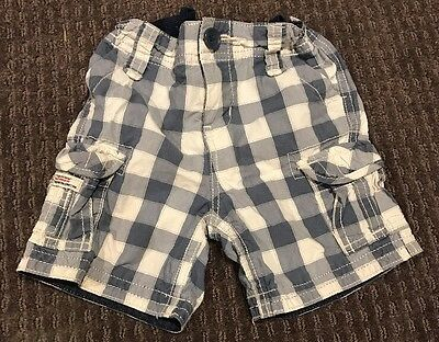 Country Road Baby Boys Blue White Check Shorts Size 6-12 Months 0