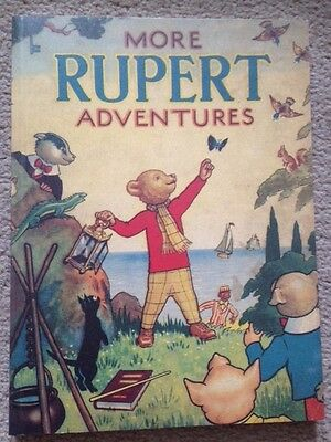 Rare 1943 Rupert annual reproduction facsimile, limited ed, dust jacket