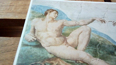 carte postale post card  MICHELANGELO, the creation of Adam (part.)