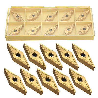 10pcs/set V-shape VNMG160404 Carbide Inserts for Processing Steel Lathe Tool