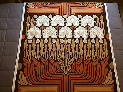 """Complete panel of vintage fabric remnant by Peter Hall for Heal's """"Rosamund"""""""