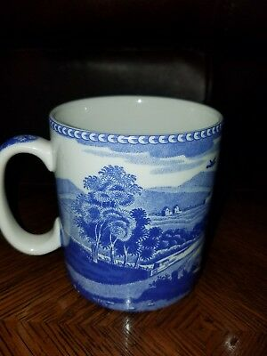 Spode Blue Room Collection Lucano Mug Bridge Castle  Archive New
