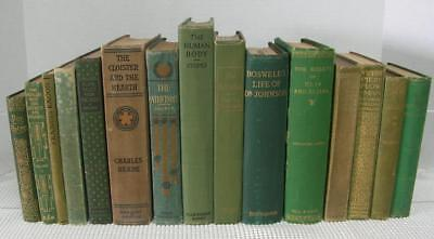 Antique Vintage Book Lot OLD RARE BOOKS Library Shelf Decor Display 1867-1930's
