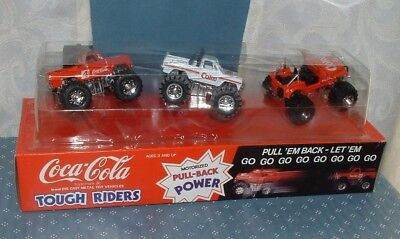 Coca Cola Tough Riders Monster Vehicles 3 Pack - 1980's - Hartoy - Coke - Moc
