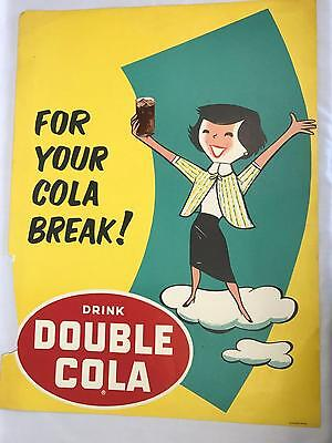 Vintage Double Cola Advertising Sign Poster For Your Cola Break