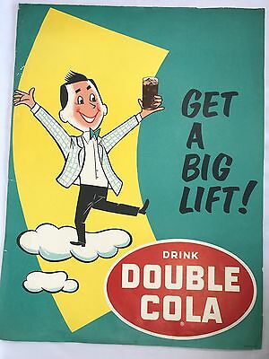 Vintage Double Cola Advertising Sign Poster Get a Big Lift