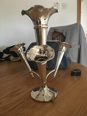 Fabulous 4 Trumpet Hallmarked Solid Silver Epergne Very Nice Table Centrepiece